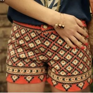 Anthropologie embroidered shorts